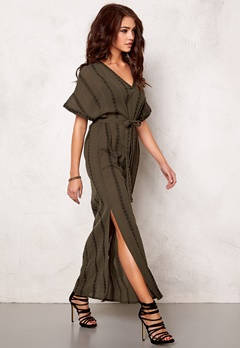 OBJECT Tennessee Maxi Dress Forest Night Bubbleroom.se