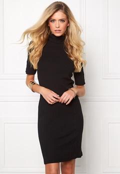 OBJECT Zoe 2/4 Roll Short Dress Black Bubbleroom.se