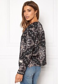 Odd Molly Afternoon Delight Blouse Almost Black Bubbleroom.se