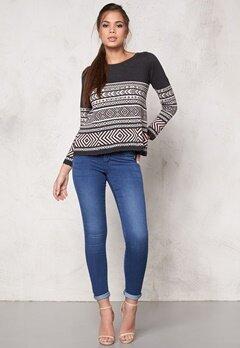 Odd Molly Belleview Sweater Dark Grey Bubbleroom.se