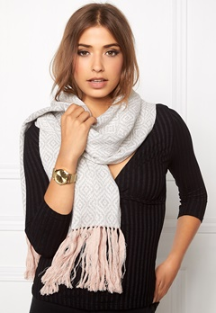 Odd Molly Girl power scarf Light grey melange Bubbleroom.se