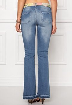Odd Molly Janis stretch flare jeans Light blue Bubbleroom.se