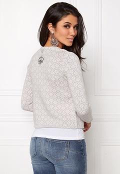Odd Molly Knitted wings cardigan Light grey melange Bubbleroom.se