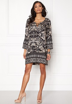 Odd Molly Odyssey Short Dress Dark Multi Bubbleroom.se