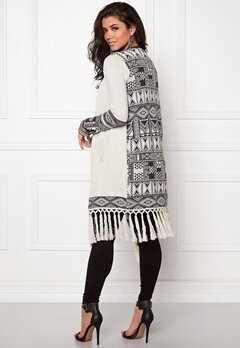 Odd Molly Rainbow long cardigan Almost black Bubbleroom.se