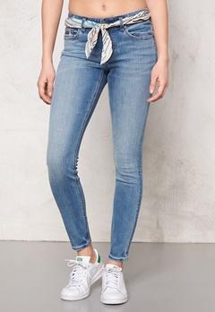 Odd Molly Stretch it cropped jeans Mid Blue Bubbleroom.se