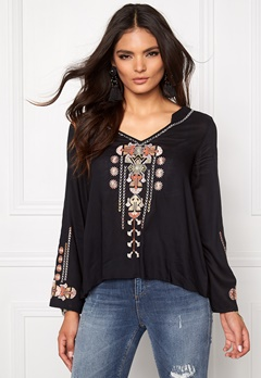 Odd Molly Ticket to ride l/s blouse Almost black Bubbleroom.se