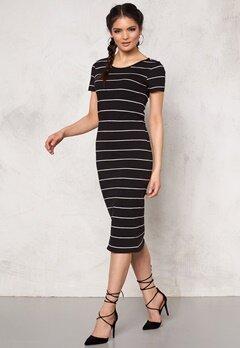 ONLY Abbie stripe ss calf Black/wide Bubbleroom.se