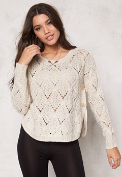 ONLY Amelia l/s pullover knit Cloud Dancer Bubbleroom.se