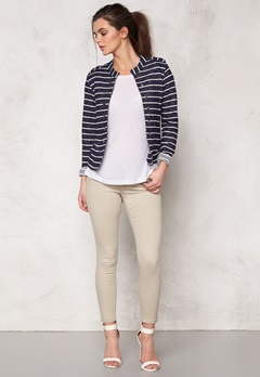 ONLY Anette Stripe Blazer Night Sky Bubbleroom.se