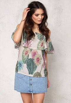 ONLY Ariel Off Shoulder Top Cloud Dancer Bubbleroom.se