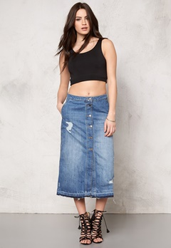 ONLY Ashton Skirt Medium Blue Denim Bubbleroom.se