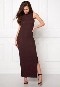 ONLY Axel S/L Long Dress Fudge Bubbleroom.se