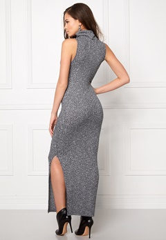 ONLY Axel S/L Long Dress Light Grey Melange Bubbleroom.se