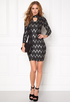 ONLY Bella Highneck L/S Dress Black Bubbleroom.se