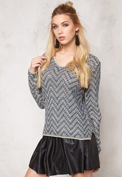 ONLY Brice l/s pullover Feather Gray Bubbleroom.se