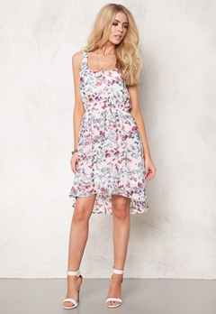 ONLY Butterfly S/L Short Dress Cloud Dancer Bubbleroom.se