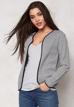 ONLY Diamond l/s cardigan noos Light Grey Melange Bubbleroom.se