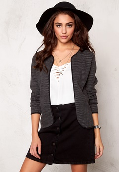 ONLY Diamond l/s cardigan Dark Grey Bubbleroom.se
