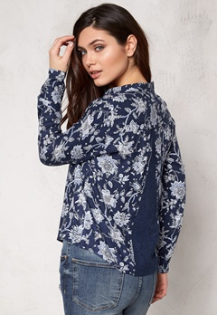ONLY Eleonora l/s Lace Shirt Blue Bubbleroom.se