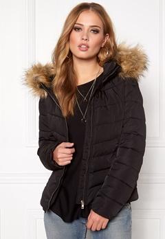ONLY Ellan Quilted Hood Fur Black Bubbleroom.se