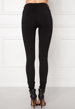 ONLY Evie Biker Leggings Black Bubbleroom.se