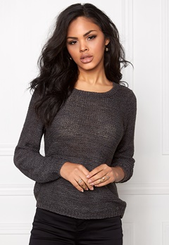 ONLY Geena L/S Pullover Dark Grey Melange Bubbleroom.se