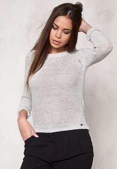 ONLY Geena L/S Pullover noos Light Grey Melange Bubbleroom.se