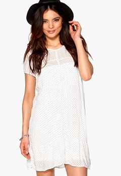 ONLY Hazel Dot Dress Cloud Dancer Bubbleroom.se