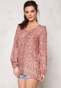 ONLY Henrietta l/s Long Top Adobe Rose Bubbleroom.se