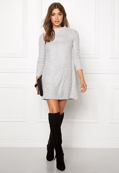 ONLY Idaho L/S Dress Light Grey Melange Bubbleroom.se