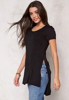 ONLY Jewel ss Long Top Black Bubbleroom.se
