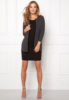 ONLY Leco 7/8 Long Cardigan Dark Grey Melange Bubbleroom.se