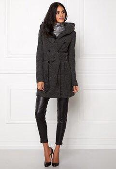ONLY Lisa Long Wool Coat Dark Grey Melange Bubbleroom.se