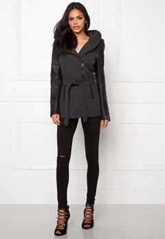 ONLY Lisford Wool Coat Dark Grey Melange Bubbleroom.se