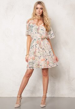 ONLY Molly Rosalind S/S Dress Cloud Dancer Bubbleroom.se
