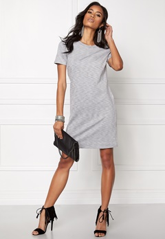 ONLY Nadia S/S Dress Light grey Melange Bubbleroom.se