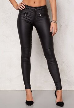 ONLY Natalie Coated Trousers Black Bubbleroom.se