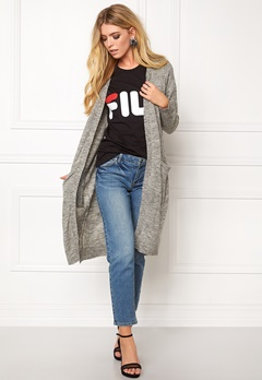 ONLY New Hayley L/S Cardigan Light Grey Melange Bubbleroom.fi