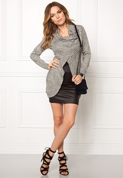 ONLY New Hayley Zip Cardigan Light Grey Melange Bubbleroom.fi