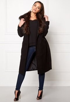ONLY New Scoop Drapy Fur Black Bubbleroom.se