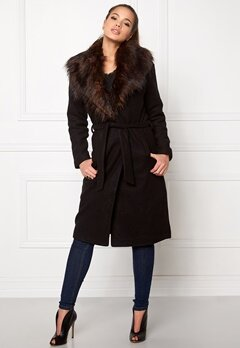 ONLY New Scoop Drapy Fur Black Bubbleroom.se