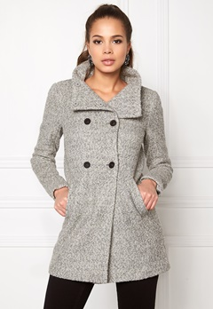 ONLY New Sophia Wool Coat Light Grey Melange Bubbleroom.se