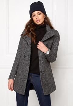 ONLY New Sophia Wool Coat Medium Grey Melange Bubbleroom.se