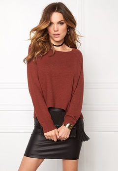ONLY New Tessa Zip Pullover Henna Bubbleroom.fi