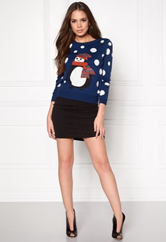 ONLY Pingu L/S Pullover Knit Night Sky Bubbleroom.se