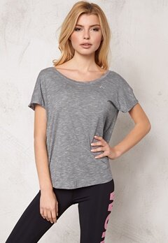 ONLY PLAY Ann SS Training Tee Light Grey Melange Bubbleroom.se