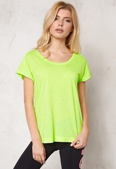 ONLY PLAY Ann SS Training Tee Neon Yellow Bubbleroom.se
