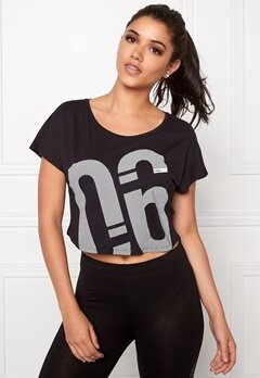 ONLY PLAY Brianna Cropped Tee Black Bubbleroom.se