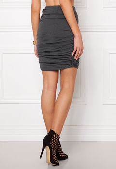 Jacqueline de Yong Kira short skirt Dark grey melange Bubbleroom.se